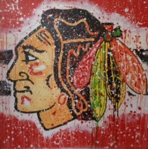 Blackhawks painting 3ft sq